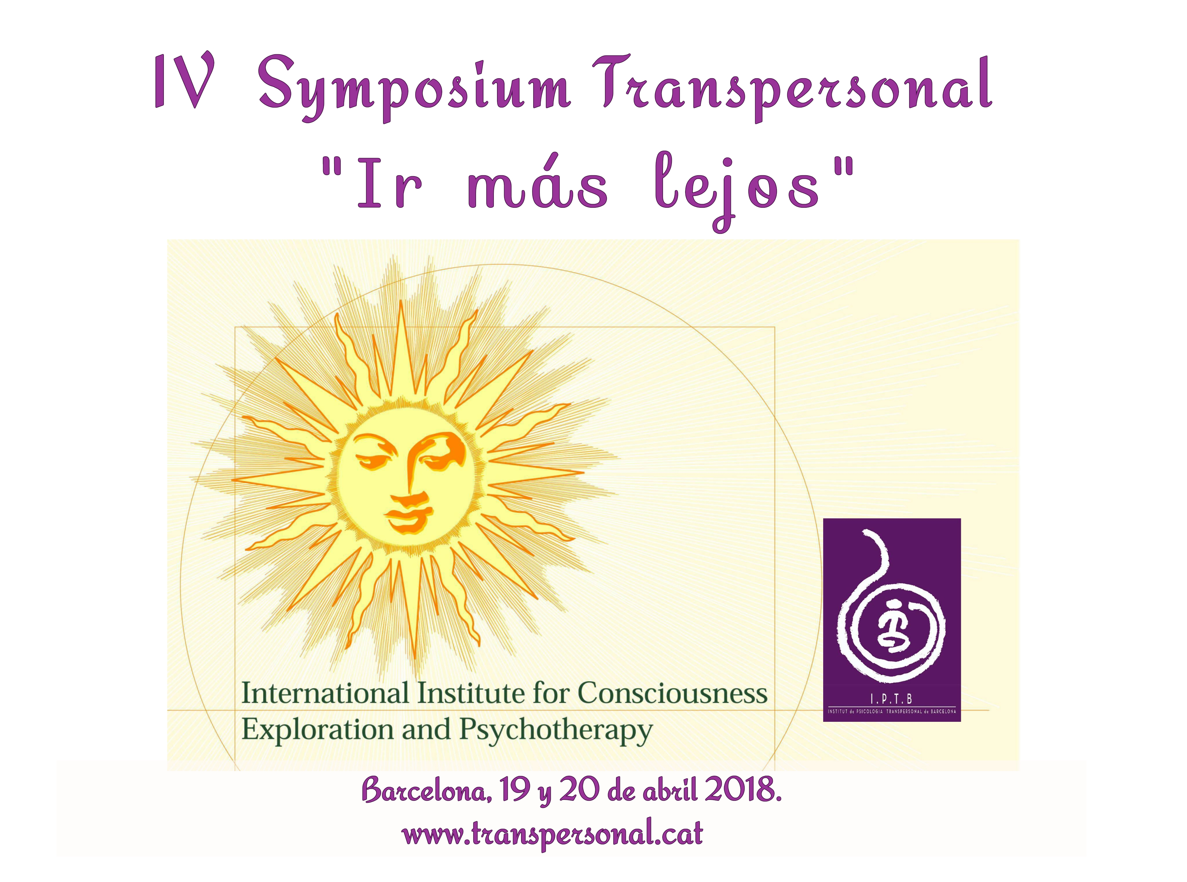 (Español) IV SYMPOSIUM TRANSPERSONAL